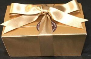 Ballotin box chocolate selections.
